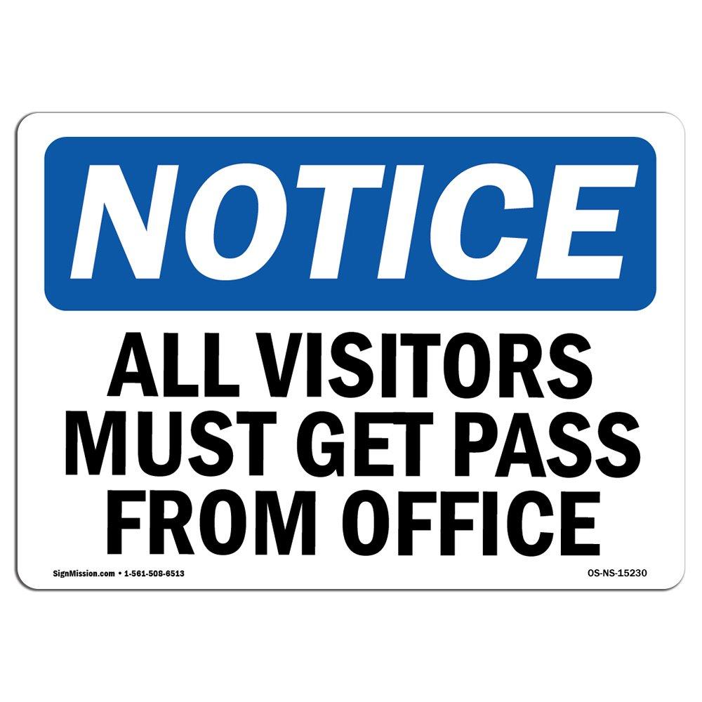 Señal de advertencia de Osha: todos los visitantes deben ...