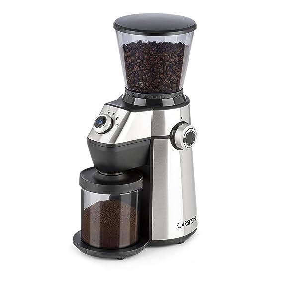 Klarstein Triest - Molinillo de café , Molinillo eléctrico , Mecanismo cónico , 15 grados de molido , Recipiente 300g , Limpieza fácil , 150V potencia ...