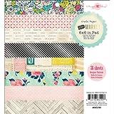 American Crafts Crate Paper 683290 Paper Pad, Flea Market, 6-Inch X 6-Inch, 36-Pack
