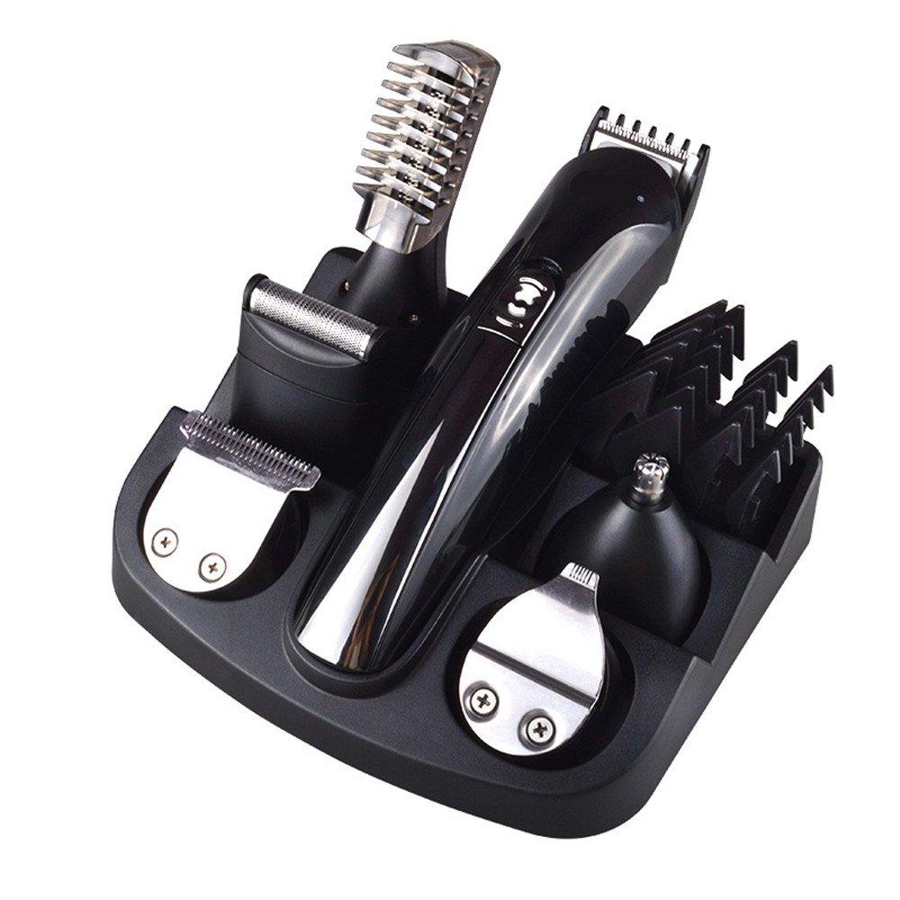 Kvch professionale 7in 1Grooming kit macchinetta tagliacapelli regolabarba da uomo, rasoio corpo trimmer peli del naso trimmer trimmer di precisione ricaricabile