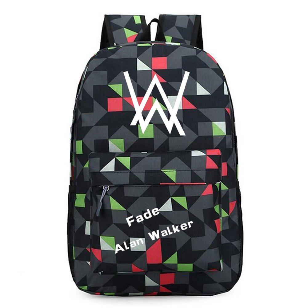 27674229c92 Amazon.com: Xcoser Faded High Capacity Alan Walker Backpack School ...