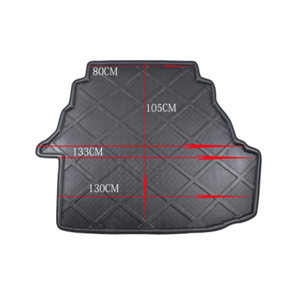 ZYHW Black Rear Trunk Tray Auto Cargo Liner Boot Rear Trunk Mat Floor Mat Cover Protector for 09-11 Toyota Camry