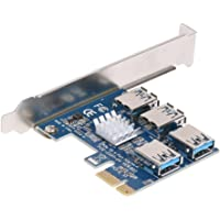 BGNing PCI-E 1 to 4 PCI Express 16X Slots Riser Card PCI-E 1X to External 4 PCI-e Slot Adapter PCIe Multiplier Card for…