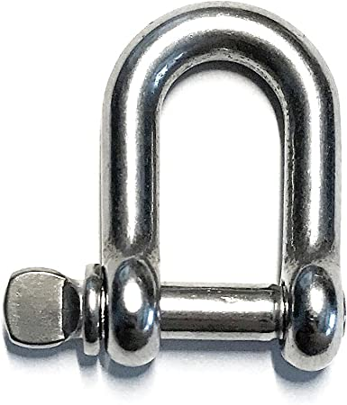 "Marine Grade Stainless Steel 316 Twist Shackle 5//32/"" 4mm"