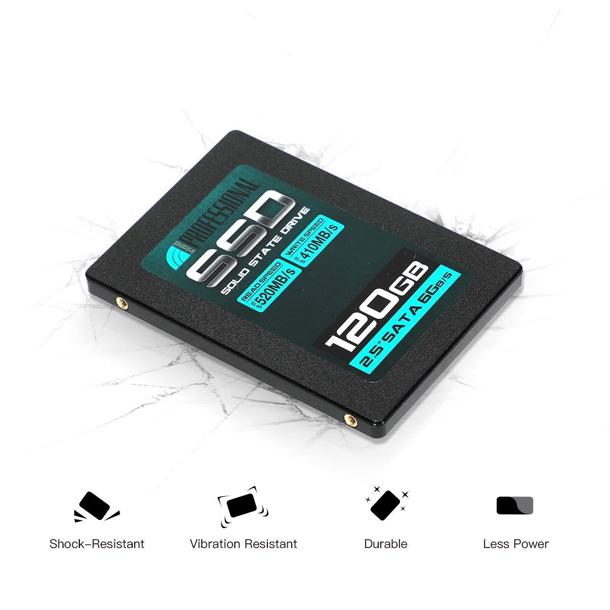 3 Pack Inland Professional 120GB SSD 3D TLC NAND SATA III 6GB//s 2.5 Internal Solid State Drive 120GB