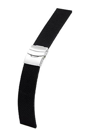 24mm deportes de silicona banda de reloj de la correa con broche de metal + Herramienta Para Sony Smartwatch 2 SW2 (Negro)