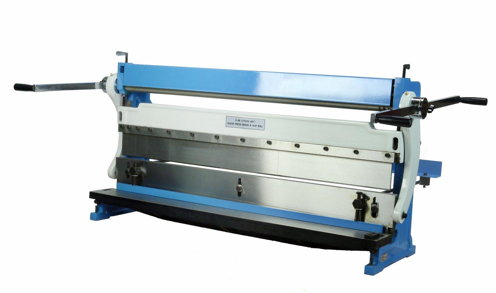 40'' Combination 3 in 1 Sheet Metal Shear, Brake & Slip Roll Combo Machine up to 20 Gauge