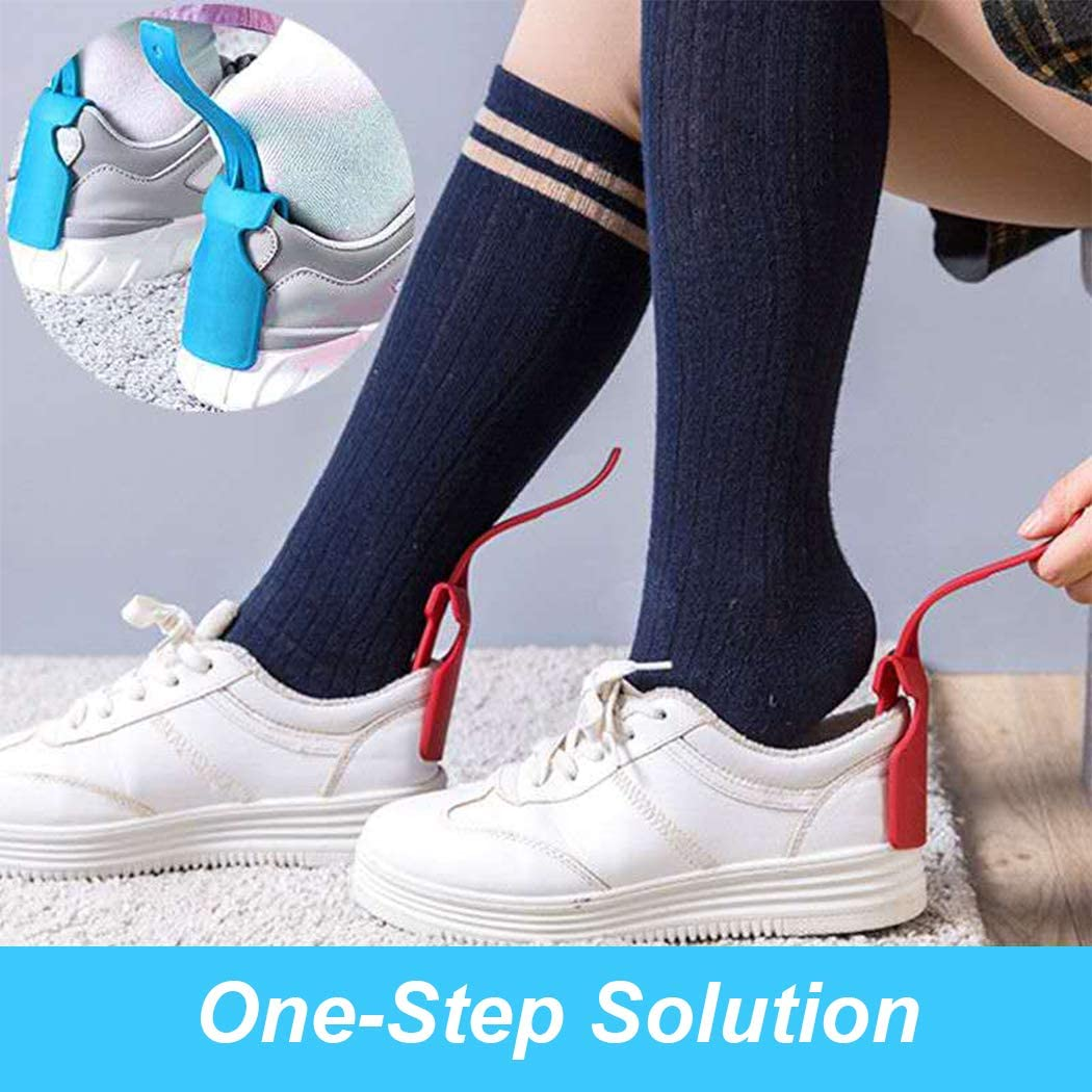 Lazy Shoes Helper 6 pcs Portable Shoehorn handhold Shoes Lifting Helper Sock Slider Plastic Shoe Horn for All Shoes for Women Men Kids for Disabled Seniors Elderly Pregnancy for Easy on and Off: Health & Personal Care