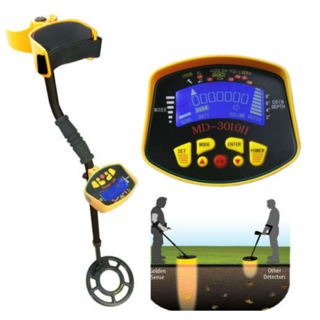 MD-3010II Metal Detector Gold Digger Light Hunter Deep Sensitive Search LCD by Unknown