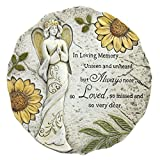 In Loving Memory Always Loved Floral Angel 11 x 11 Inch Resin Bereavement Garden Stepping Stone