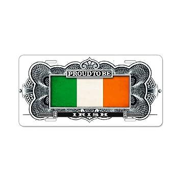 PROUD IRISH IRISH METAL NOVELTYCAR LICENSE PLATE TAG.