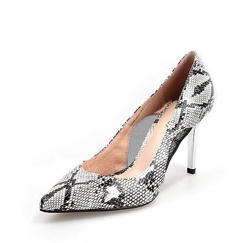 Otoño Zapatos Sexy imitación Piel de Serpiente Zapatos de Mosaico con Malla  Transpirable Puntiagudos 01a26f540842