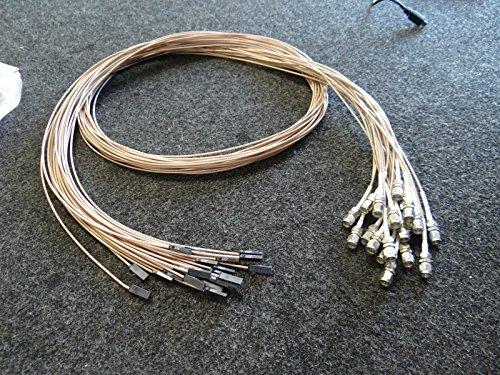 "Lot of 5 PCB Piezoelectric Accelerometer Sensor Cables 60"" long from Piezoelectric"