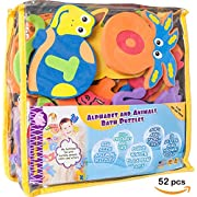 Foam Bath Toys Preschool Alphabet – Best Baby Bath Toys Toddlers Kids Girls Boys - PREMIUM Educational Floating Bathtub Toys - Non Toxic Letters Animals Bath Toy Set - The Biggest BathTub Toys - Safe