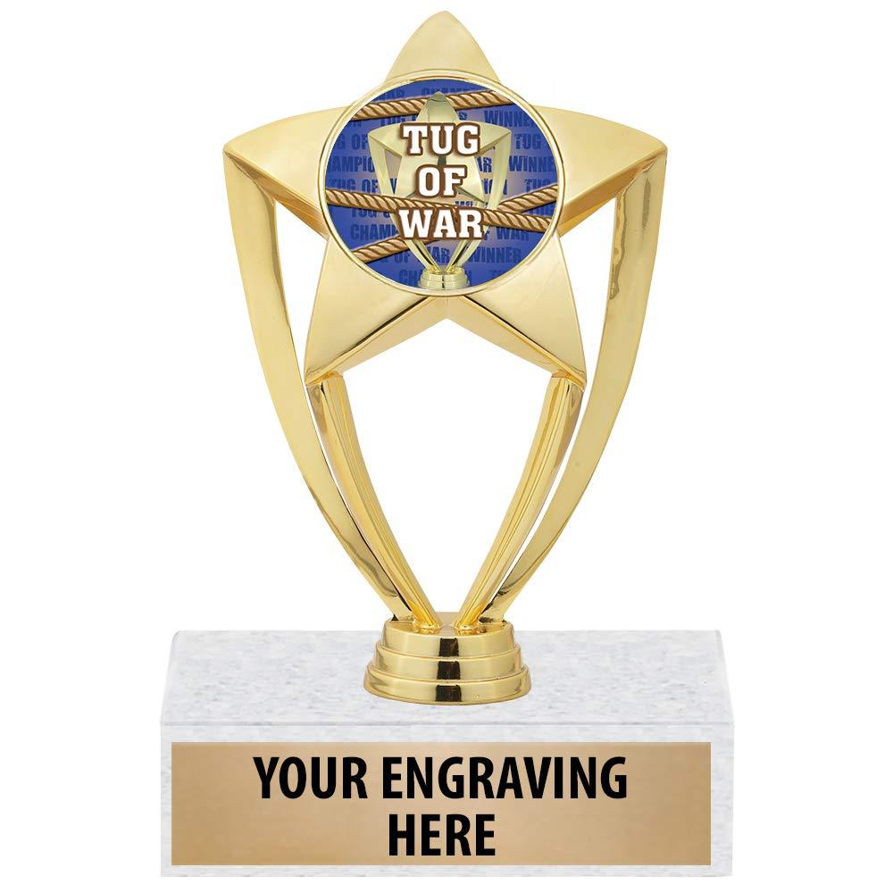 Crown Awards、Tug Of Warトロフィー、6インチ、ゴールドスター、タグ オブ ウォー トロフィー。 B07G4KFB5T  10