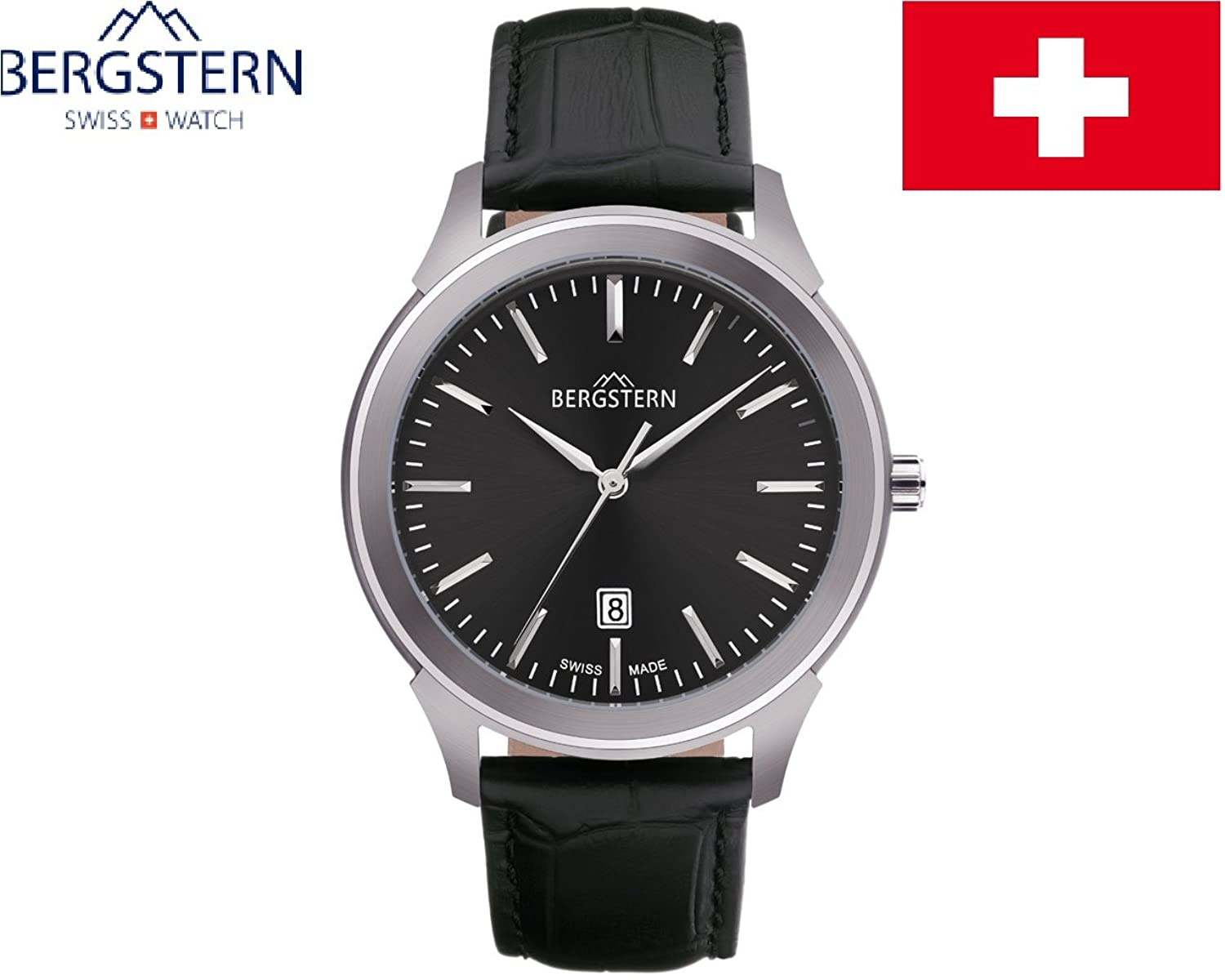 ARMBANDUHR MEN'S COLLECTION HARMONY BERGSTERN B016G083 whatch SWISS MADE hoher QualitÄt MADE IN SVIZZERA.Cinturino