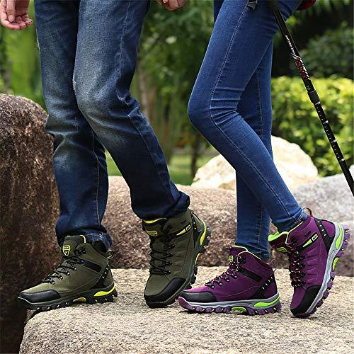 Leicht Wandern 1 Wanderschuhe Wanderstiefel und Anti Sportlich Bequem Outdoor Outdoor Herren Lila Trekking Rutsch Damen BOLOG Zgx7nqvq