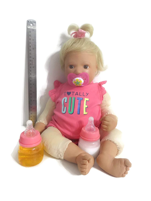 Amazon.com: Reborn Baby Doll Chupete I Love mamá niña o niño ...