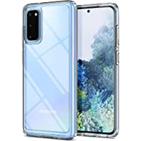 SPIGEN [Ultra Hybrid] Galaxy S20 Case Cover with Shockproof Bumper and Premium Clarity Designed for Samsung S20 (2020) - Crystal Clear