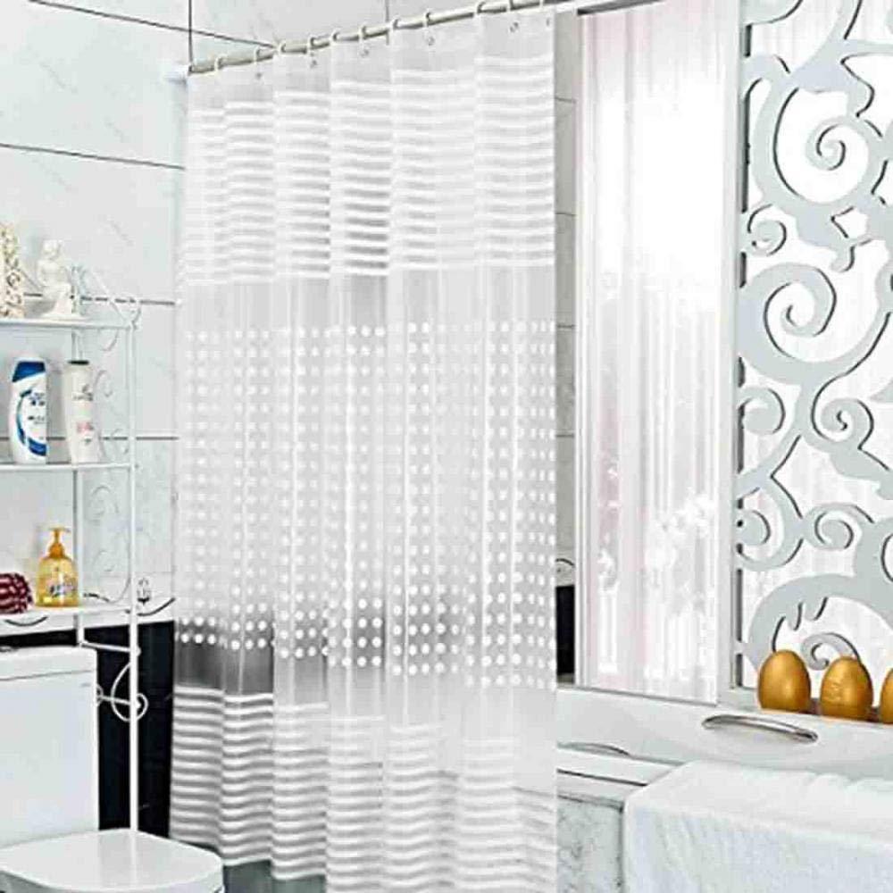 lavable ecol/ógica resistente al moho impermeable cortinas de ducha largas transparente con anillas EVA Cortina de ducha 150 x 200c m transparente transparente