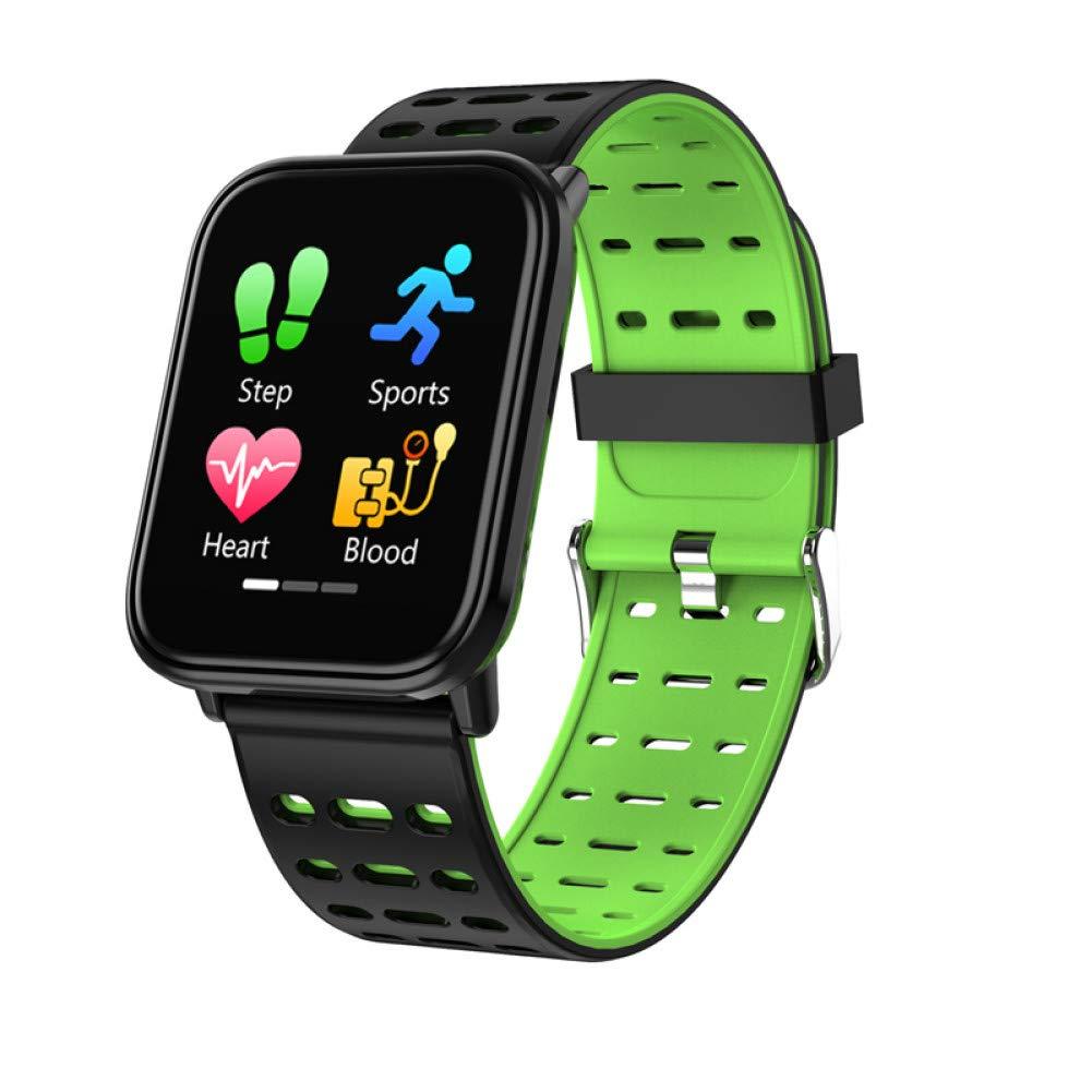 Vert ZLOPV Montre Intelligente Nouveau bleutooth Moniteur de fréquence Cardiaque Smartwatch Fitness Tracker Fitness Watch Smart Watch Hommes Sport Bracelet Intelligent pour iOS Android -