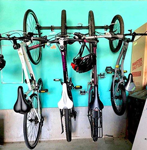 Omni Bike Storage Rack - Holds 5 Bicycles - Home & Garage Adjustable Bikes Wall Hanger Mount by StoreYourBoard (Image #6)