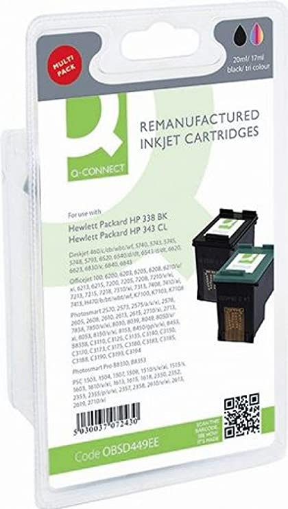 Q-Connect cartucho de tinta para Deskjet 460 C/cb/wbt/WF, 5740 ...
