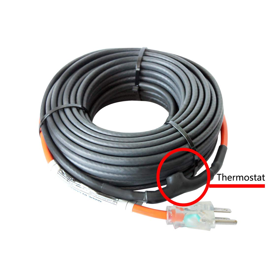 HEATIT JHSF 3-feet 120V Self Regulating Pre-assembled Pipe Heating Cable by HEATIT (Image #7)