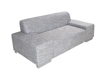 Hikenn Sofa 2 Sitzer Wohnzimmer Couch In Webstoff Salz Pfeffer Fsse Aluoptik