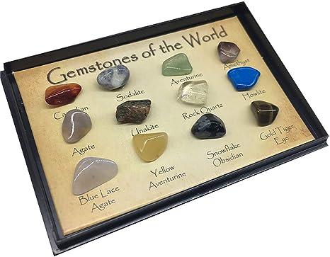 12 PC/sistema piedras preciosas Del Mundo minerales naturales brillantes Roca deslumbramiento Piedras Para la Escuela de Geología Educación Decoración regalo para los niños: Amazon.es: Bebé