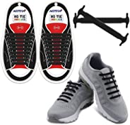 HOMAR No Tie Shoelaces for Kids and Adults - Best in Sports Fan Shoelaces - Stretch Silicone Elastic No Tie Shoe Laces with