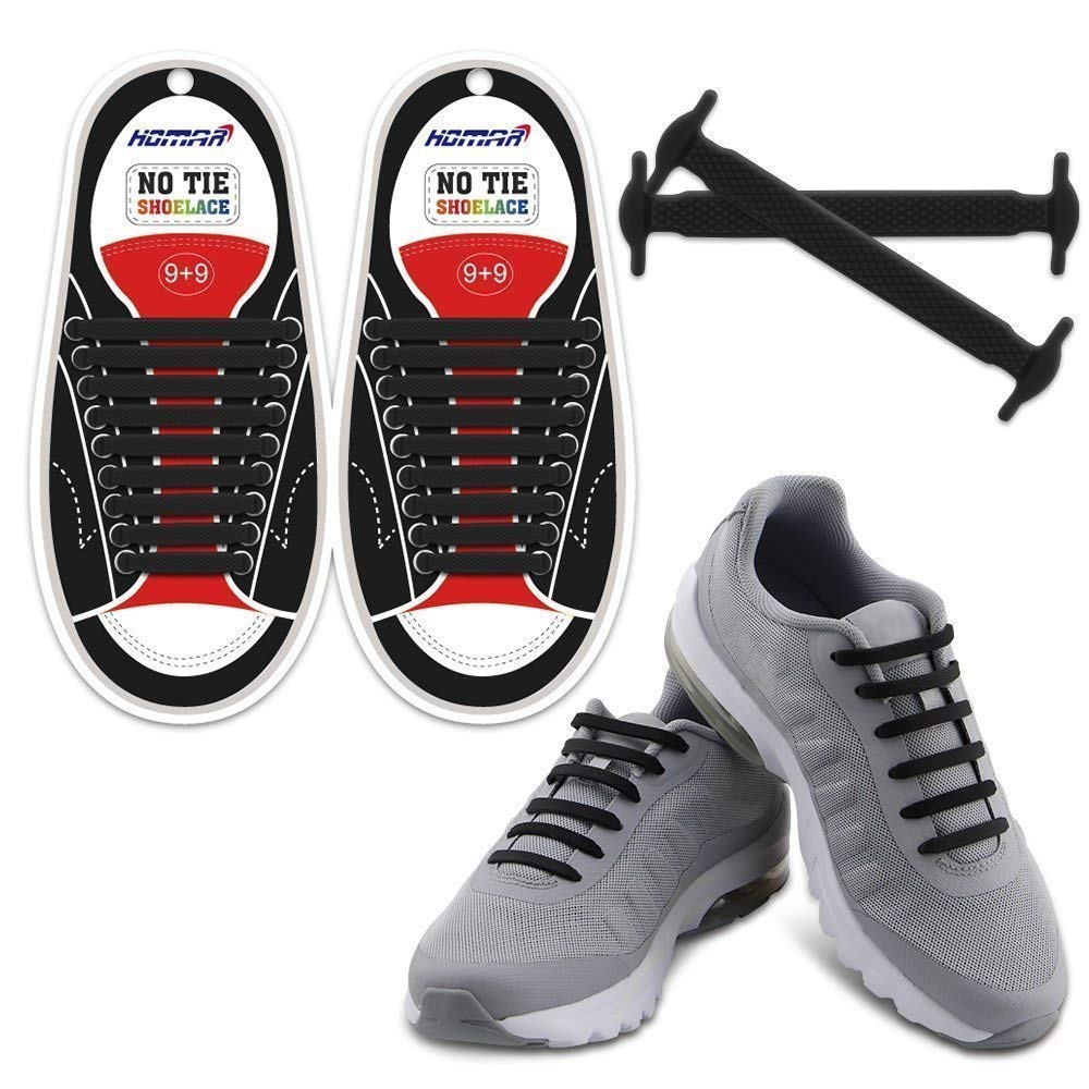 b8ea643dc3d4d HOMAR No Tie Shoelaces for Kids and Adults - Best in Sports Fan Shoelaces -  Waterproof Silicone Flat Elastic Athletic Running Shoe Laces with ...