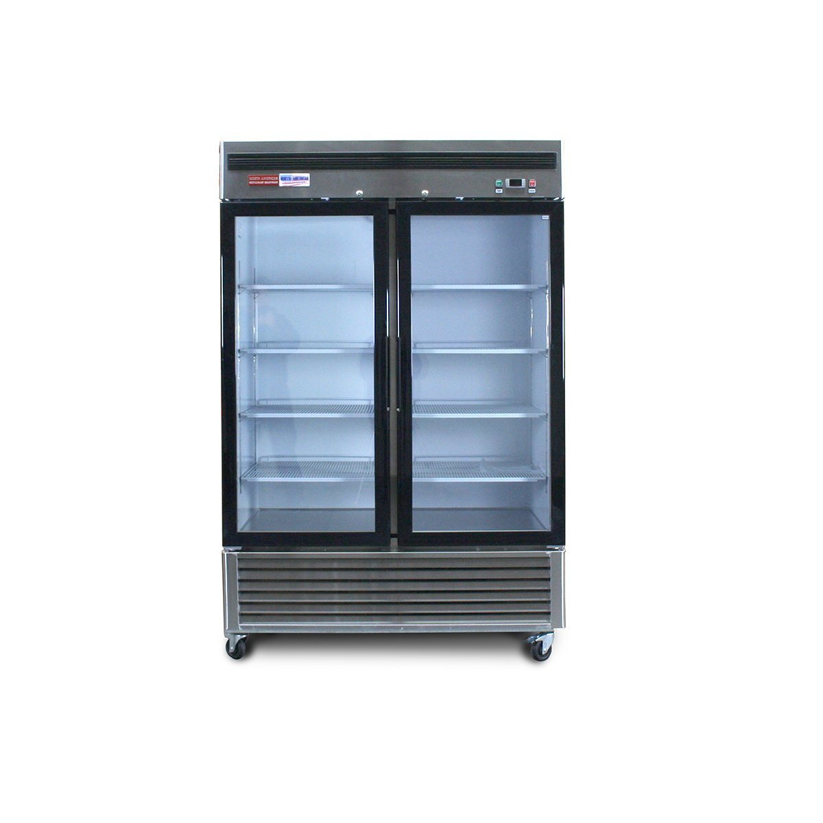 North American Restaurant Equipment Double Door Glass Front Reach In FREEZER