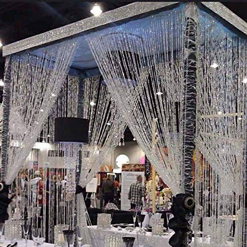 100ft Crystal Bead Garland for Bridal Shower Outdoor Beach Wedding Arch Table Centerpiece Christmas Tree New Year Birthday Decoration Backdrop (AB Colorful) ()