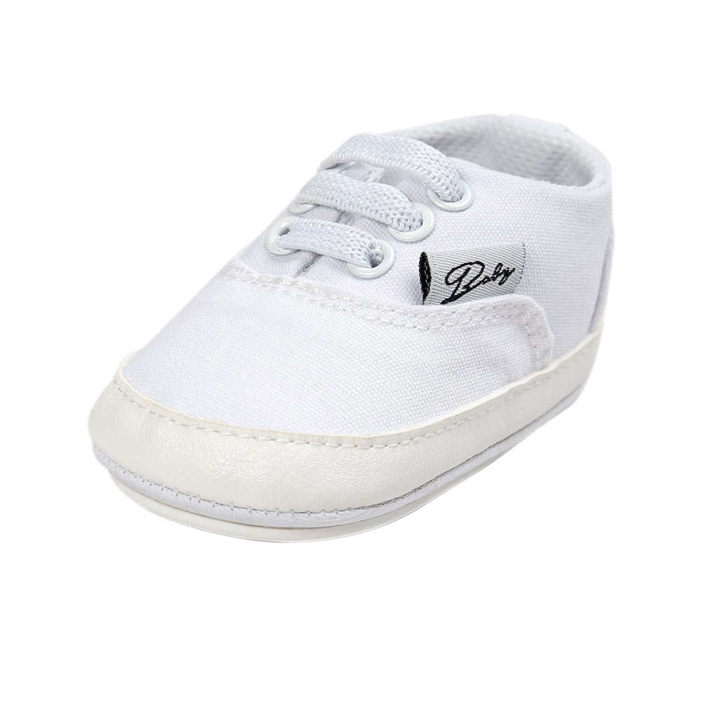Neband Baby Girls Boys Canvas Shoes Toddler Infant First Walkers Lace-up Sneakers