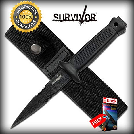 Amazon.com: Cuchillo de doble filo para supervivencia, color ...