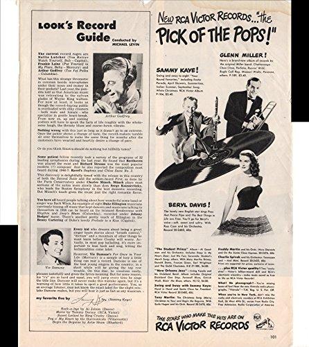 RCA Victor Record Sammy Kaye Glenn Miller Beryl Davis 1947 Antique Advertisement