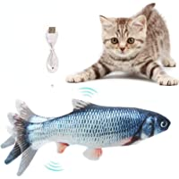 Flysee Eléctrica Juguete Pez para Gato,Peluche de Juguete eléctrico de simulación Fish Fish con Carga USB,Mascotas…