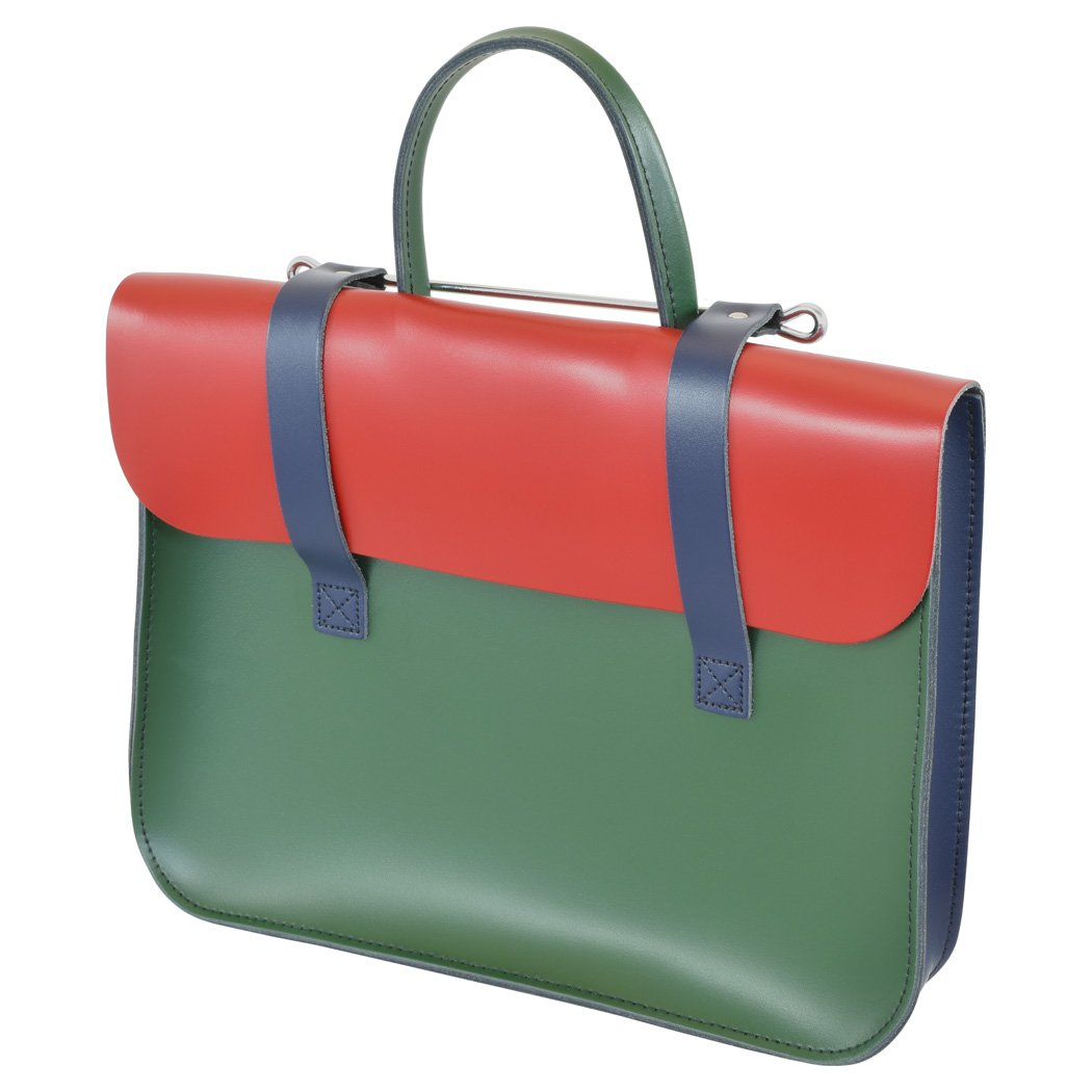 Oxford Traditional Leather MC1-MC Traditional Classic Leather Music Case, Mixed Colors