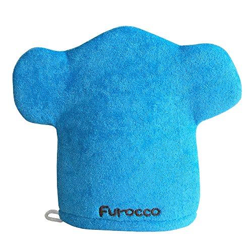 Blue Elephant Baby Bath Glove Hand Puppet Mitt Bath Toys Wash Cloths Scrubber by Furocco Bath Talk (Image #1)