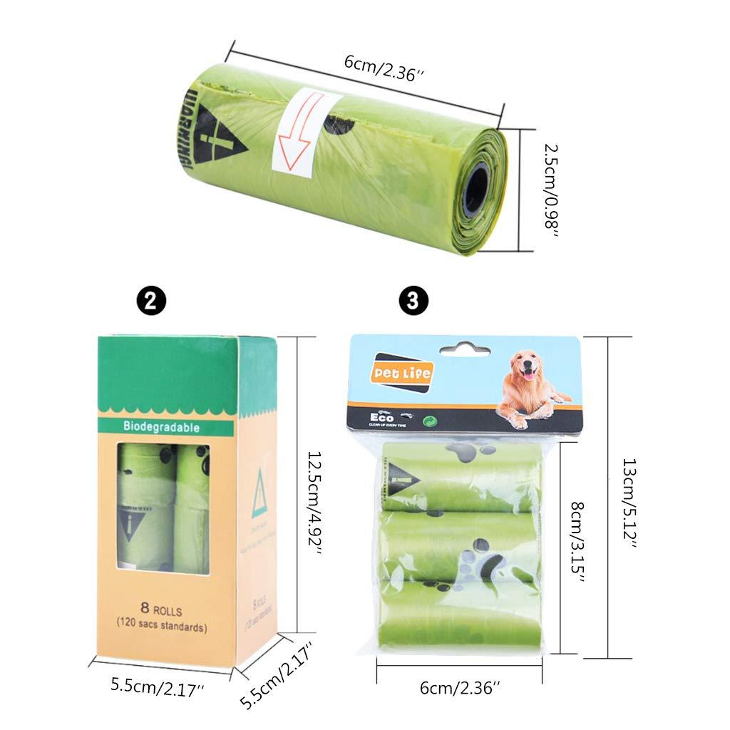 Lwl220 bolsas biodegradables ecológicas para caca de perro, bolsa ...