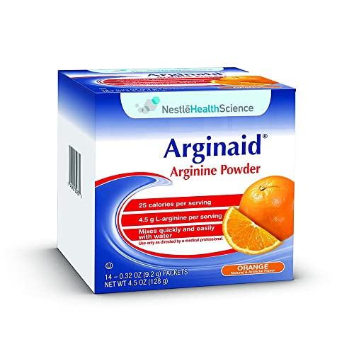 ARGINAID, Arginine Powder Drink Mix, Orange, 0.32 oz Packet 56 Pack