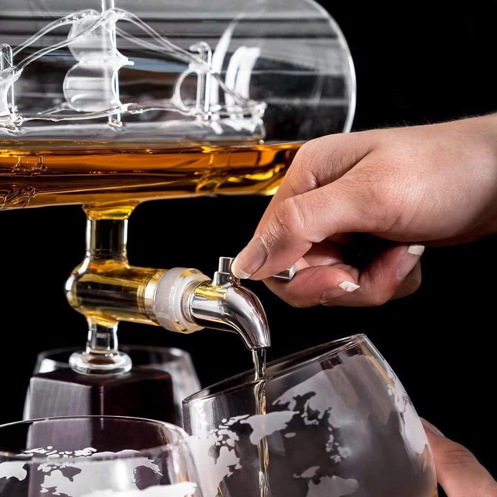 SOHOH Decantador De Whisky con Barco Antiguo, Dispensador De ...