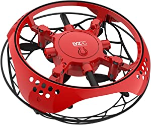 TuKIIE Hand Operated Mini Drone for Kids Adults Hand Controlled Flying Ball Toy Infrared Induction Quadcopter Indoor Outdoor Helicopter Toys Mini Drone with LED Light for Boys or Girls
