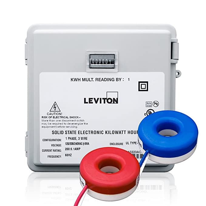 Leviton MO240-1SW 100-Amp Mini Meter Kit with 2 Solid CTs and Outdoor Enclosure