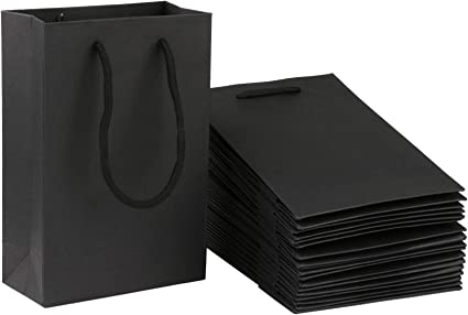 Amazon.com: Sdootjewelry - Bolsa de papel kraft con asas (50 ...