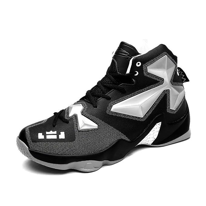 Beauqueen 2017 Herbst High Top Turnschuhe Paare Schuhe Basketball Schuhe Rutschfeste Dämpfung Sneakers 39-44 (Color : Black, Größe : 42)