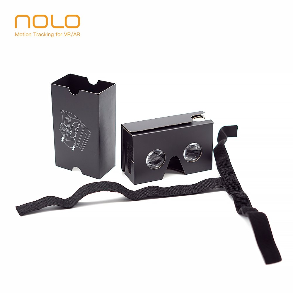 NOLO VR Cardboard Virtual Reality Headsets for 360 Videos Movies and Games DIY Kit VR Glasses Compatible with Android and IOS Within 3.5-6 inches New Version Black