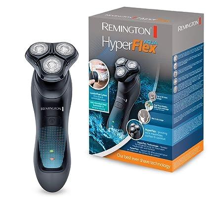 Remington HyperFlex Aqua XR1430 – Máquina de Afeitar Rotativa, Cortadores de Precisión, Uso Seco y Mojado, Gris y Azul