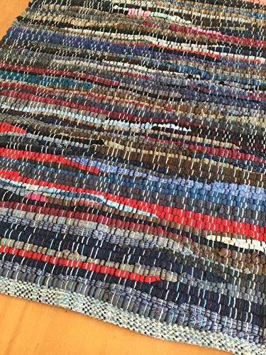 Rag rug, handwoven chindi (Rug Rag Swedish)